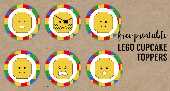 Lego Cupcake Toppers Printable Paper Trail Design