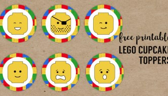 Lego Cupcake Toppers Printable