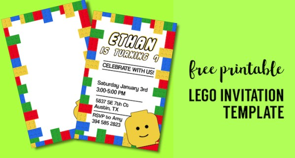 best lego birthday party ideas free printables paper trail design