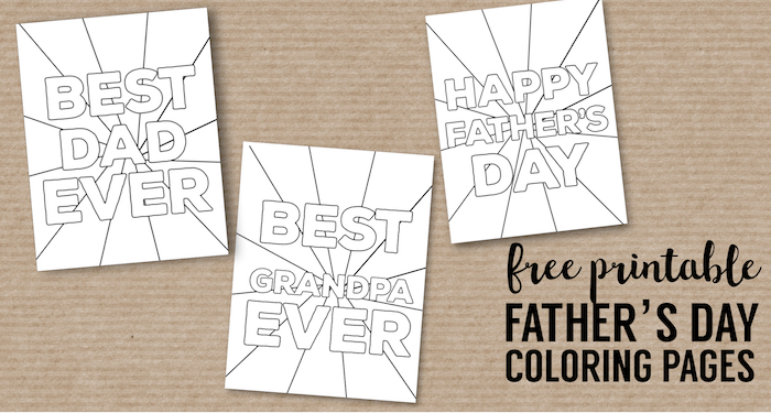 image relating to Free Printable Fathers Day Coloring Pages known as Joyful Fathers Working day Coloring Web pages Absolutely free Printables - Paper