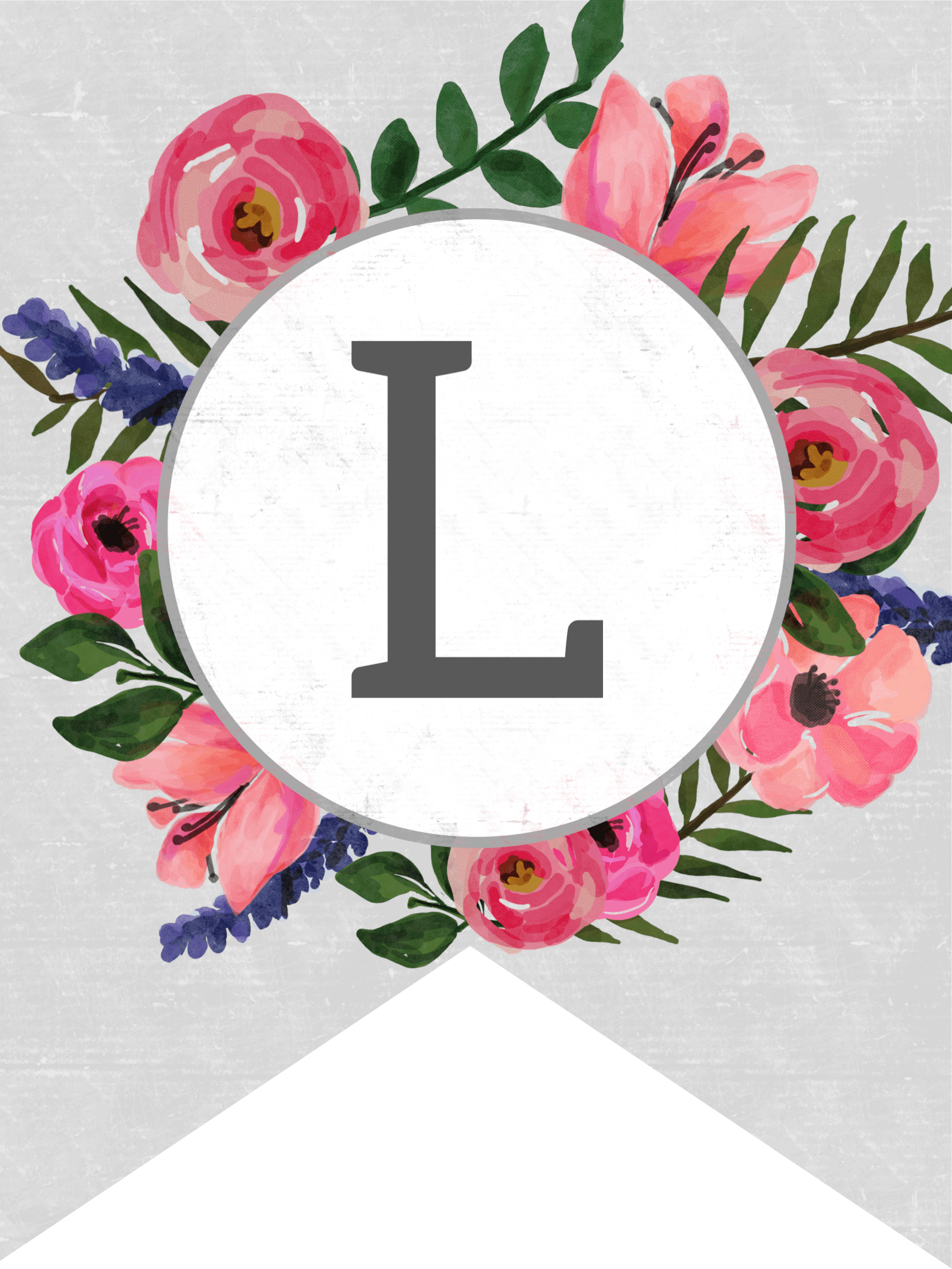 Floral Alphabet Banner Letters Free Printable - Paper ...
