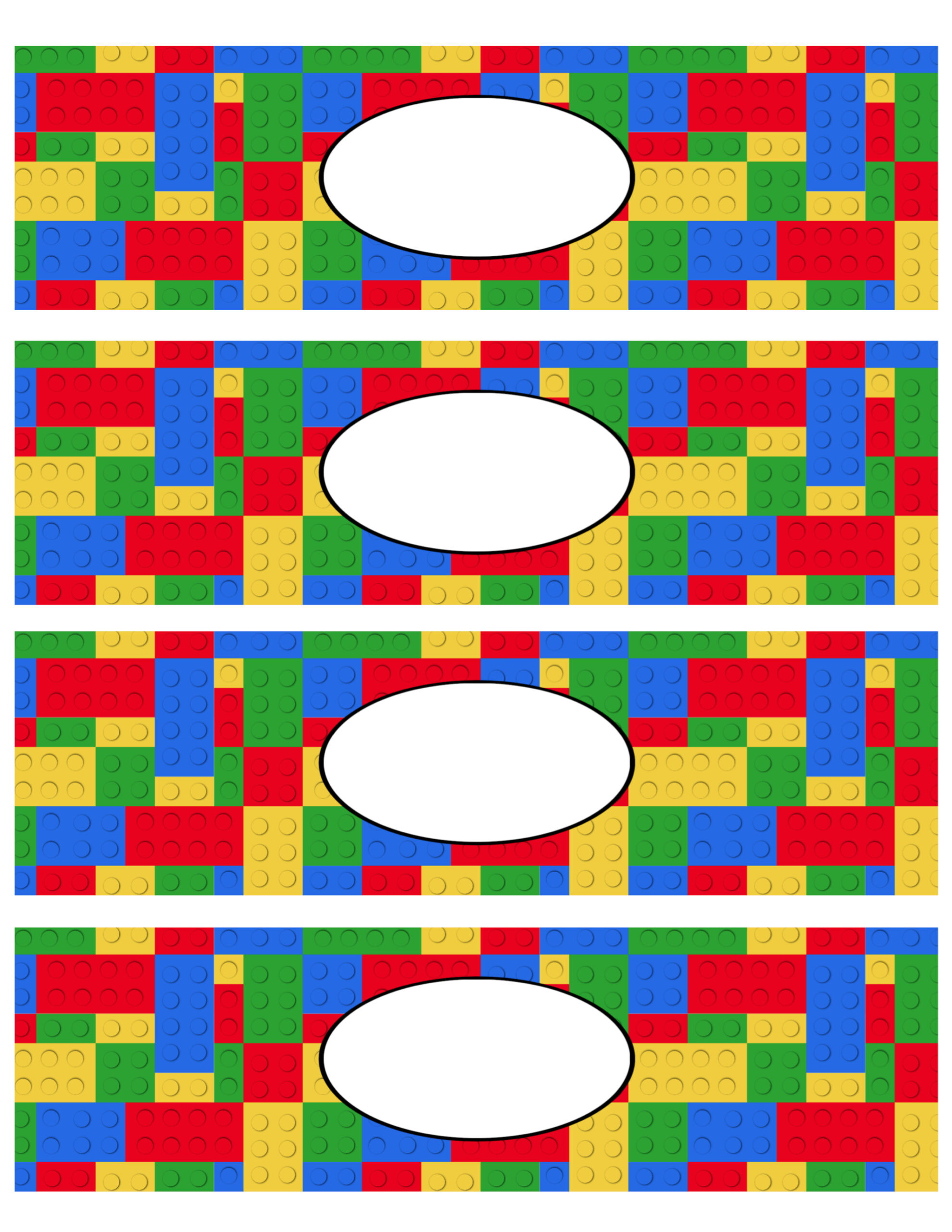 Free Printable Lego Water Bottle Labels Paper Trail Design