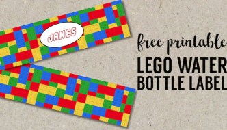 Free Printable Lego Water Bottle Labels. Bottle Wrappers for fun easy lego party decor. Lego birthday party ideas that are cheap and easy. #papertraildesign #lego #legobirthday #legobirthdayparty
