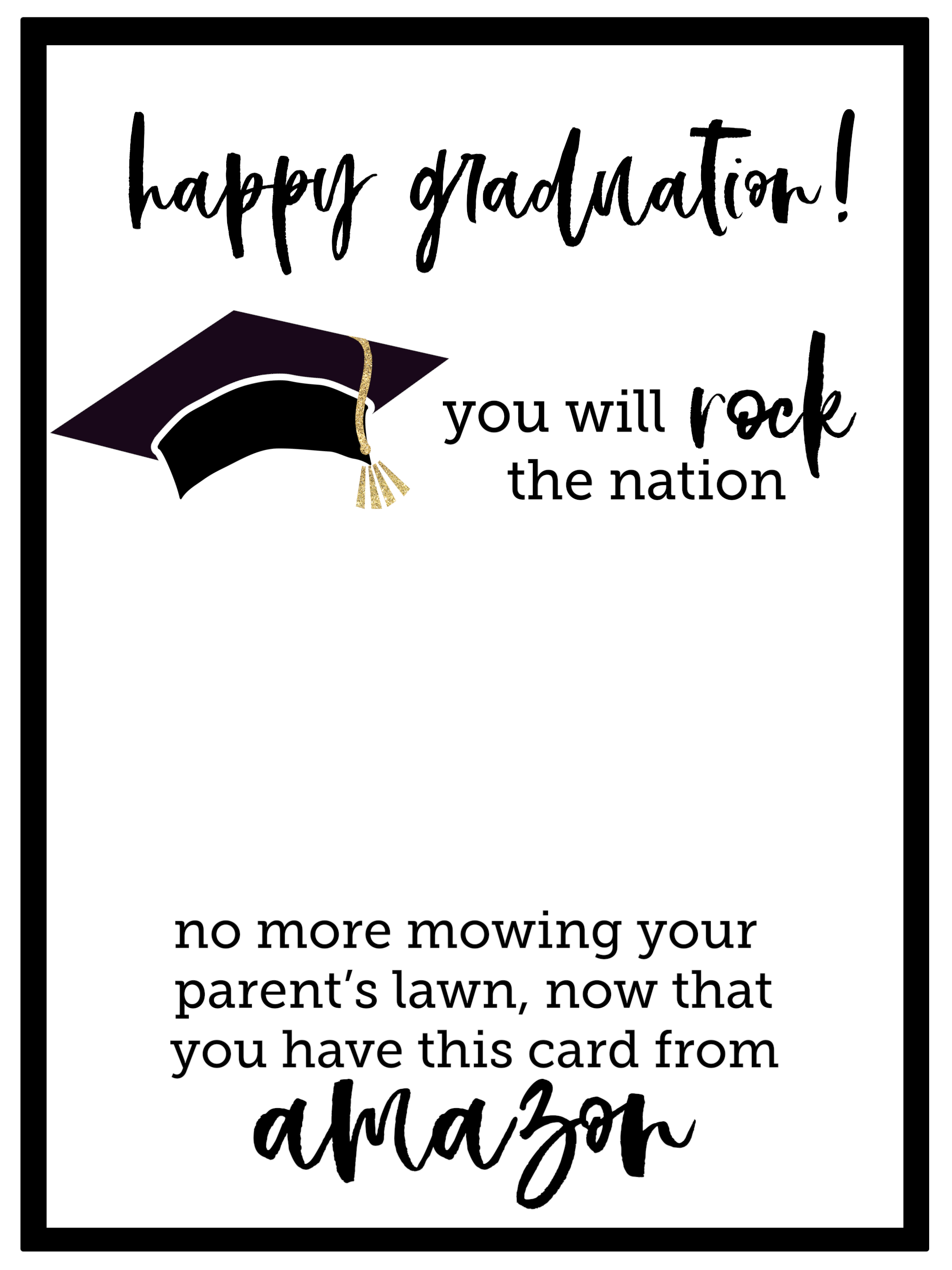 Massif image throughout graduation printable cards