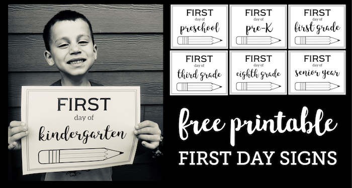 Free Printable First Day of School Sign {Pencil}