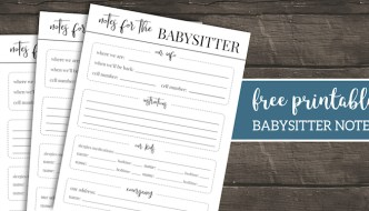 Free Printable Babysitter Notes Template