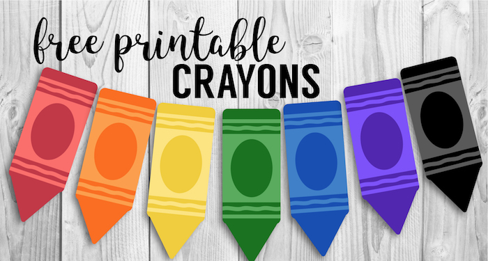 graphic regarding Crayon Printable identified as Cost-free Printable Again in direction of College Banner Crayons - Paper Path
