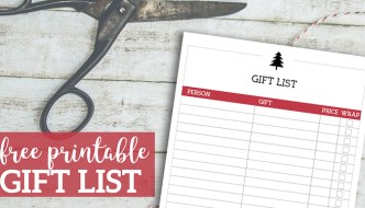 Free Printable Christmas List Template {Gift List}. Christmas gift tracker. Organize and track your Christmas present purchases and budget. #papertraildesign #Christmas #Christmasbudget #Christmasgiftlist