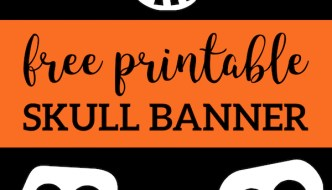 Free Printable Halloween Skull Decoration Banner