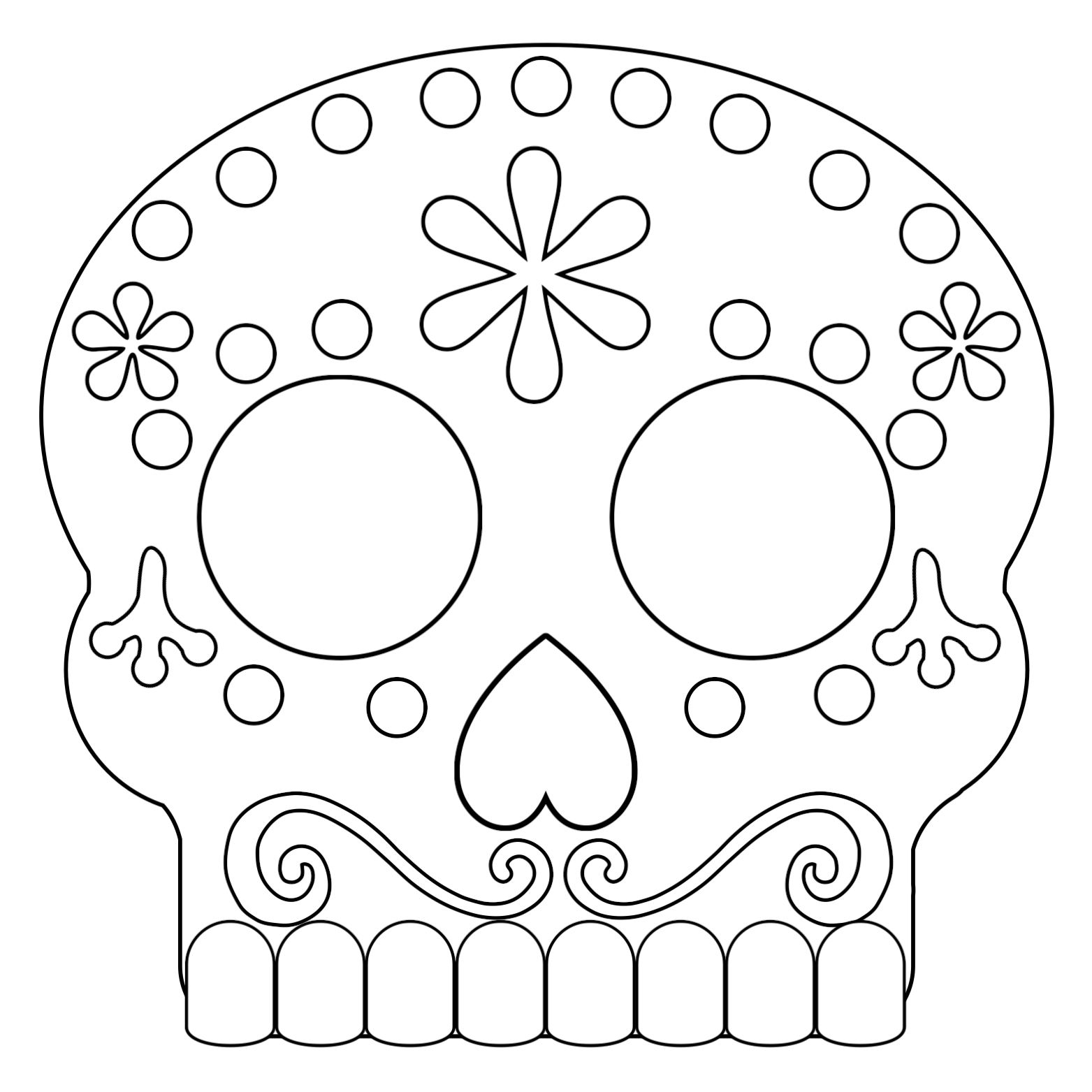 photo regarding Sugar Skull Printable titled Working day of the Lifeless Masks Sugar Skulls Cost-free Printable - Paper