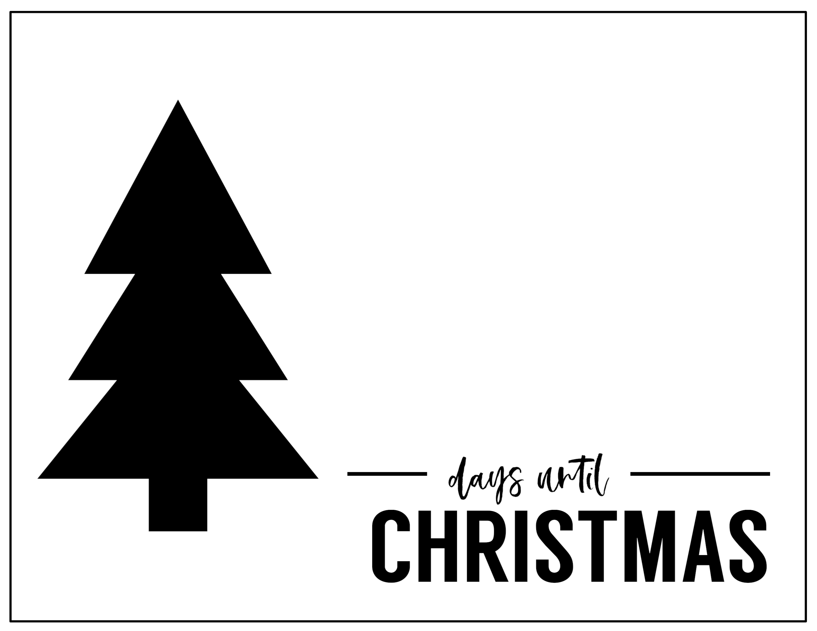Free Printable Days Until Christmas Countdown - Paper Trail Design