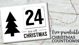 Free Printable Days Until Christmas Countdown