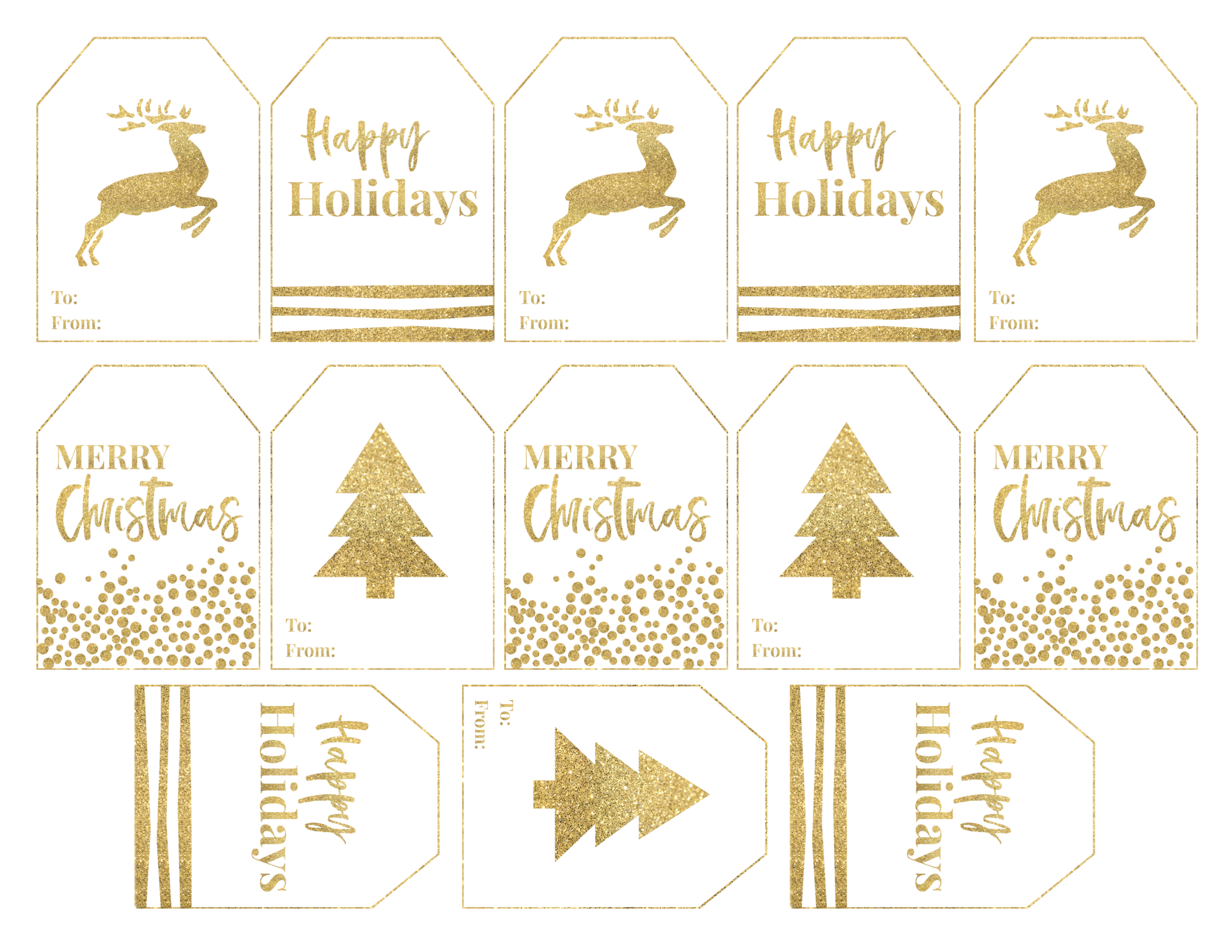 photograph about Printable Christmas Tags named Gold Absolutely free Printable Xmas In the direction of Towards Tags - Paper Path Structure
