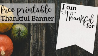 I am Thankful for Printable Banner