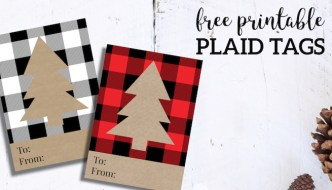 Rustic Plaid Christmas Tags Free Printable