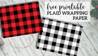 Rustic Buffalo Plaid Wrapping Paper Free Printable