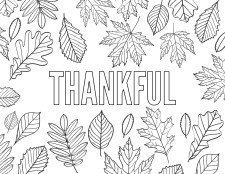 Thanksgiving Coloring Pages Free Printable. Grateful, Thankful, Gratitude, Give Thanks, and Thanksgiving for kids and adults. #papertraildesign #thanksgivingkids #thanksgivingactivity #kidstable #fall #autumn #hellofall