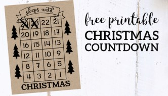 How Many Days Until Christmas Free Printable