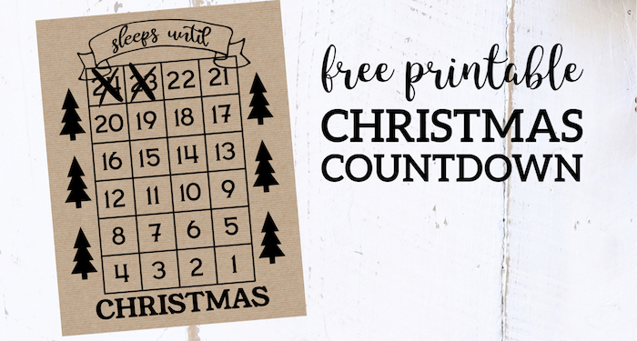 How Many Days Till Christmas 2019.How Many Days Until Christmas Free Printable Paper Trail