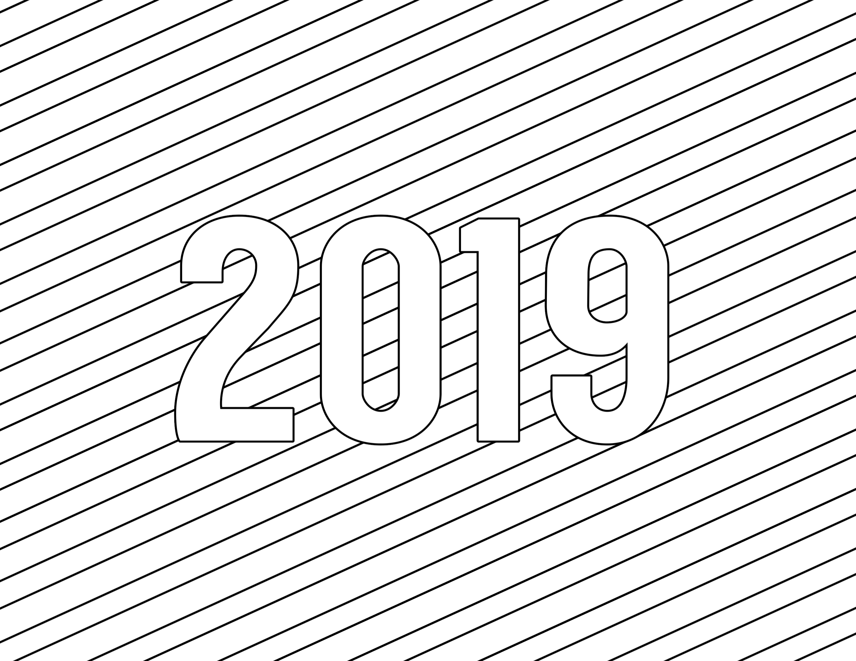 Happy New Year Coloring Pages Free Printable Paper Trail Design