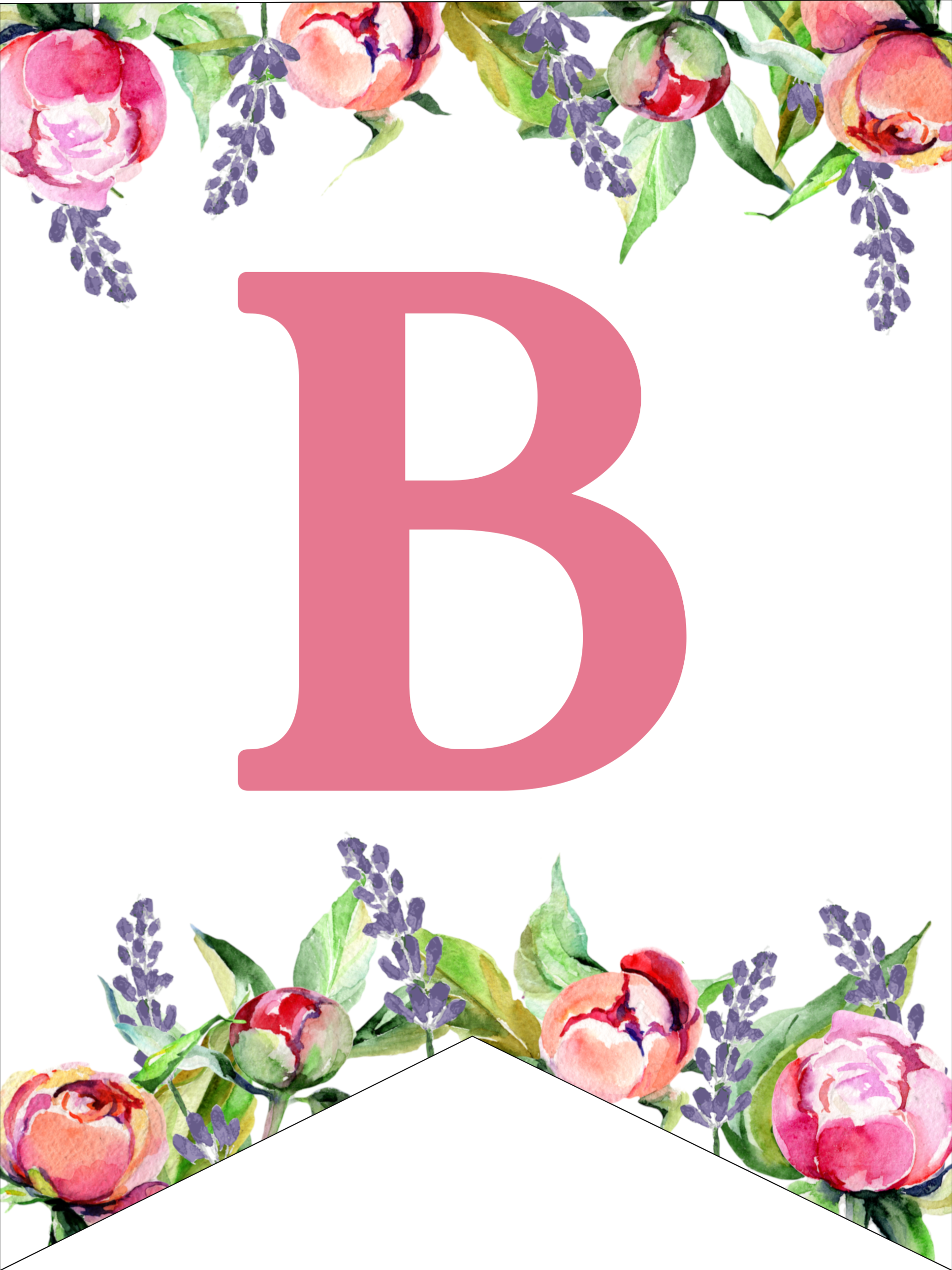 photograph regarding Printable Letters named Floral Absolutely free Printable Alphabet Letters Banner - Paper Path