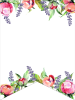 Floral Free Printable Alphabet Letters Banner. Make a custom flower banner for birthday parties, baby showers, or weddings. #papertraildesign #banner #floralbanner #wedding #weddings #babyshower #bridalshower #weddingshower #birthday #birthdayparty #birthdayparties