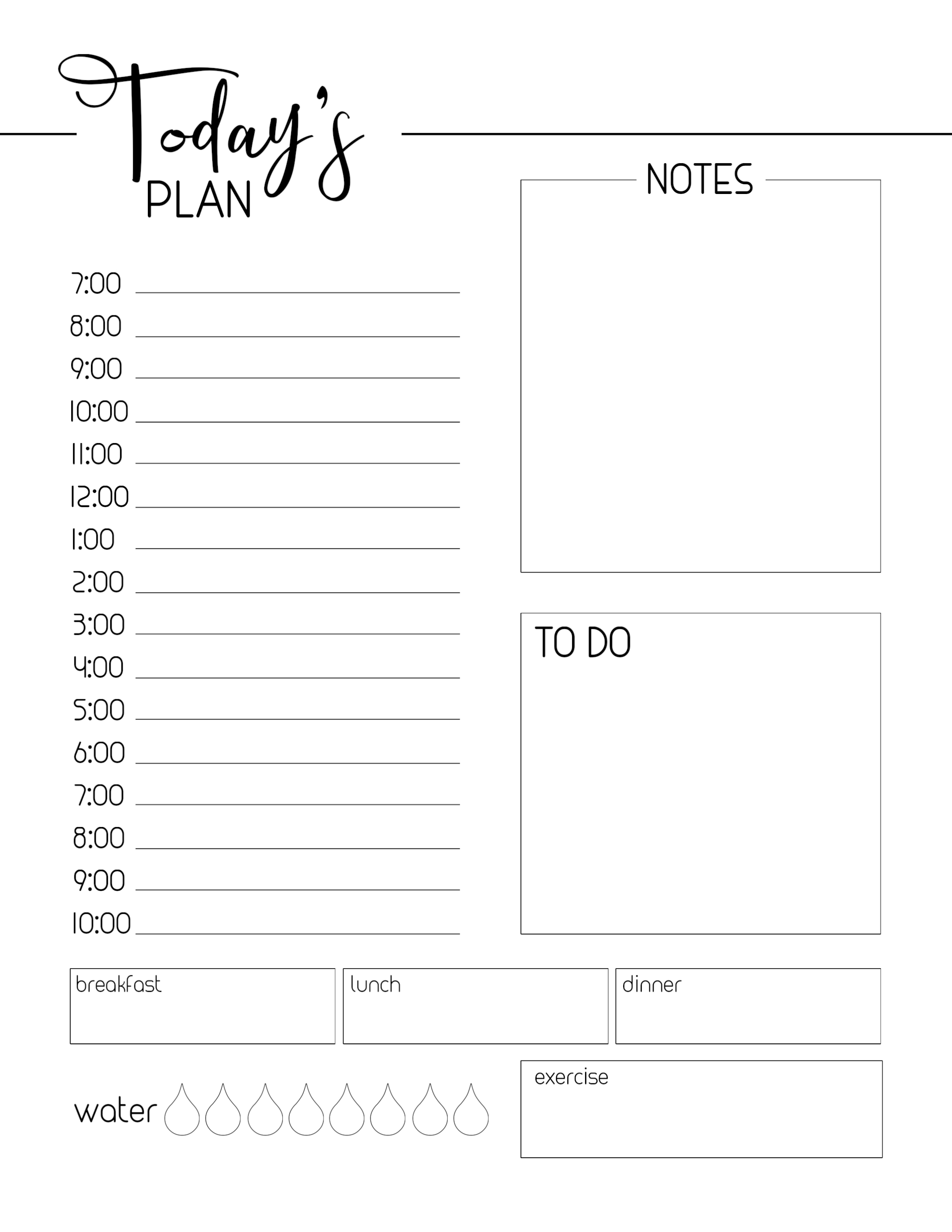 photo regarding Daily Planner Printable named Cost-free Printable Every day Planner Template - Paper Path Style