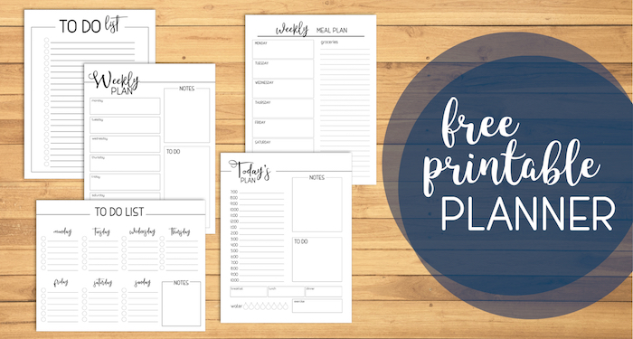picture regarding Free Personal Planner Printables identify Free of charge Printable Working day Planner Internet pages - Paper Path Style and design