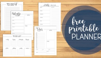 Free Printable Day Planner Pages to help you organize your personal, family, or office life. Menu plan, weekly & daily plan, to do list. #papertraildesign #dayplanner #planner #plan #mealplan #todo #dailyplan #weeklyplan #getshitdone #goals #organize #stayfocused #trackyourprogress #freeprintables