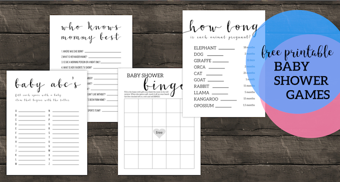 photograph about Free Printable Baby Shower Games Who Knows Mommy the Best referred to as Absolutely free Printable Youngster Shower Video games - Paper Path Design and style
