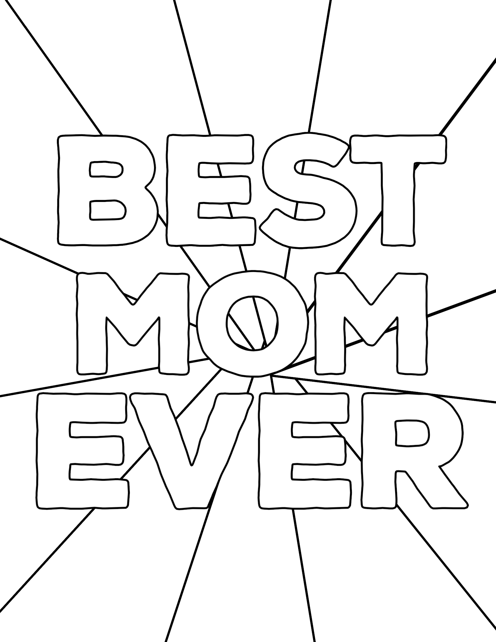 Best mom coloring pages ~ Free Printable Mother's Day Coloring Pages - Paper Trail ...