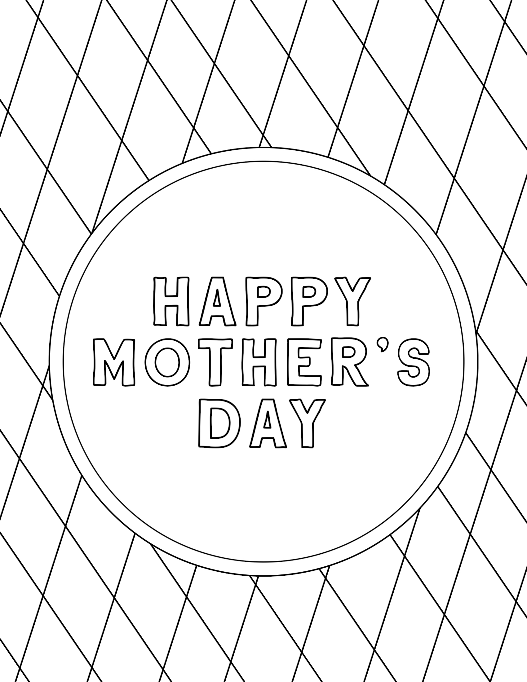 photograph about Printable Mothers Day Coloring Page referred to as Free of charge Printable Moms Working day Coloring Internet pages - Paper Path Layout