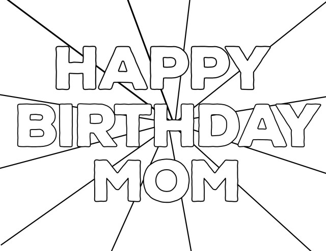 Free Printable Happy Birthday Coloring Pages - Paper Trail Design