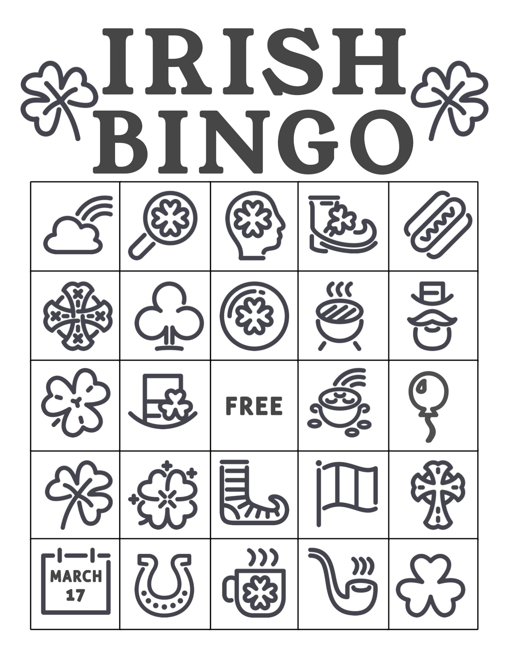 Free Printable St Patrick S Day Bingo Cards