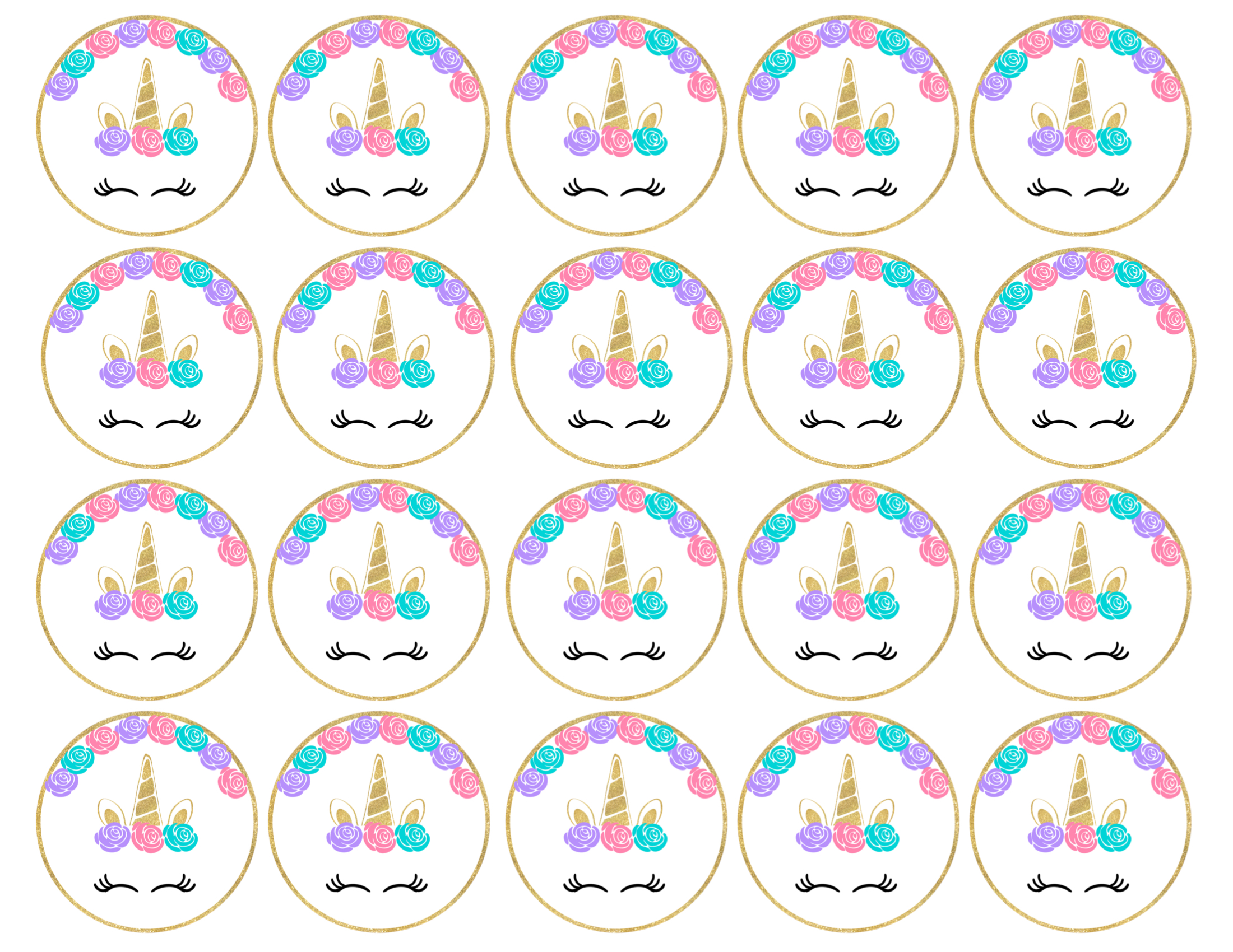 image about Printable Cupcake named Cost-free Printable Unicorn Cupcake Toppers - Paper Path Style and design
