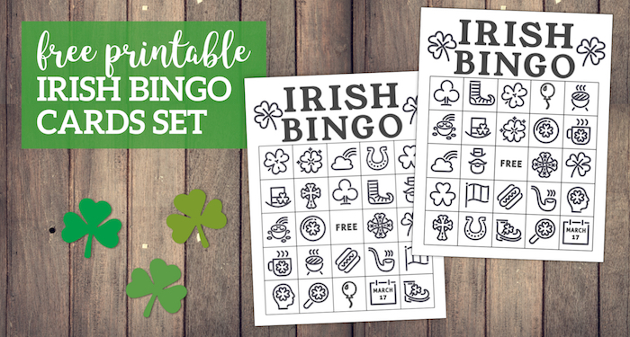 photograph relating to St Patrick's Day Bingo Printable named Totally free Printable St. Patricks Working day Bingo Playing cards - Paper Path