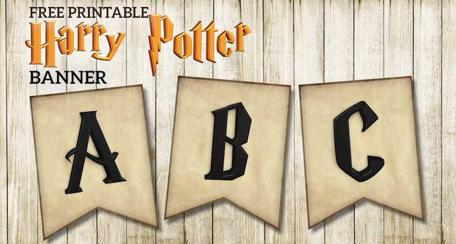 photo regarding Harry Potter Decorations Printable called Absolutely free Printable Harry Potter Banner Letters - Paper Path Design and style