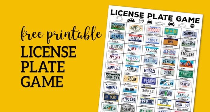 Road Trip License Plate Game Printable. Fun license plate scavenger hunt for kids or adults. Beat bordom and keep kids busy. #papertraildesign #roadtrip #roadtripgames #roadtripwithkids #kids #roadtripprintable #free #freeprintable #freeprintables #license #licenseplategame #licenseplatesgame #carride #boredomebuster