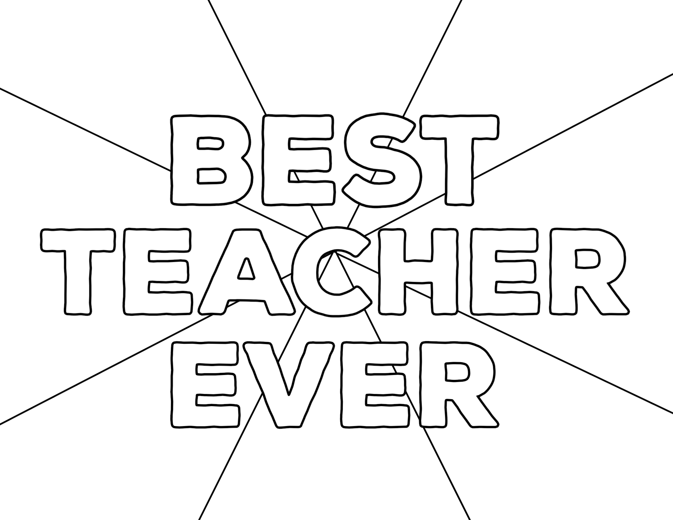 Teacher Appreciation Coloring Pages Paper Trail Design