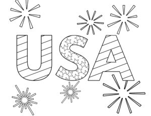 Free Printable 4th Of July Coloring Pages Paper Trail Design