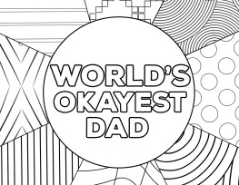 World's Okayest Dad Father's Day Card Printable. Free printable funny Father's Day gift idea. Punny father's day presents. #papertraildesign #happyfathersday #fathers #worldsbestdad #worldsokayestdad #fathersdaygiftideas #fathersdaycards #freeprintables