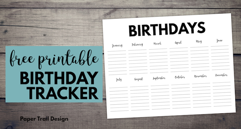 image regarding Free Printable Birthday Calendar called Totally free Printable Birthday Calendar Template - Paper Path Structure