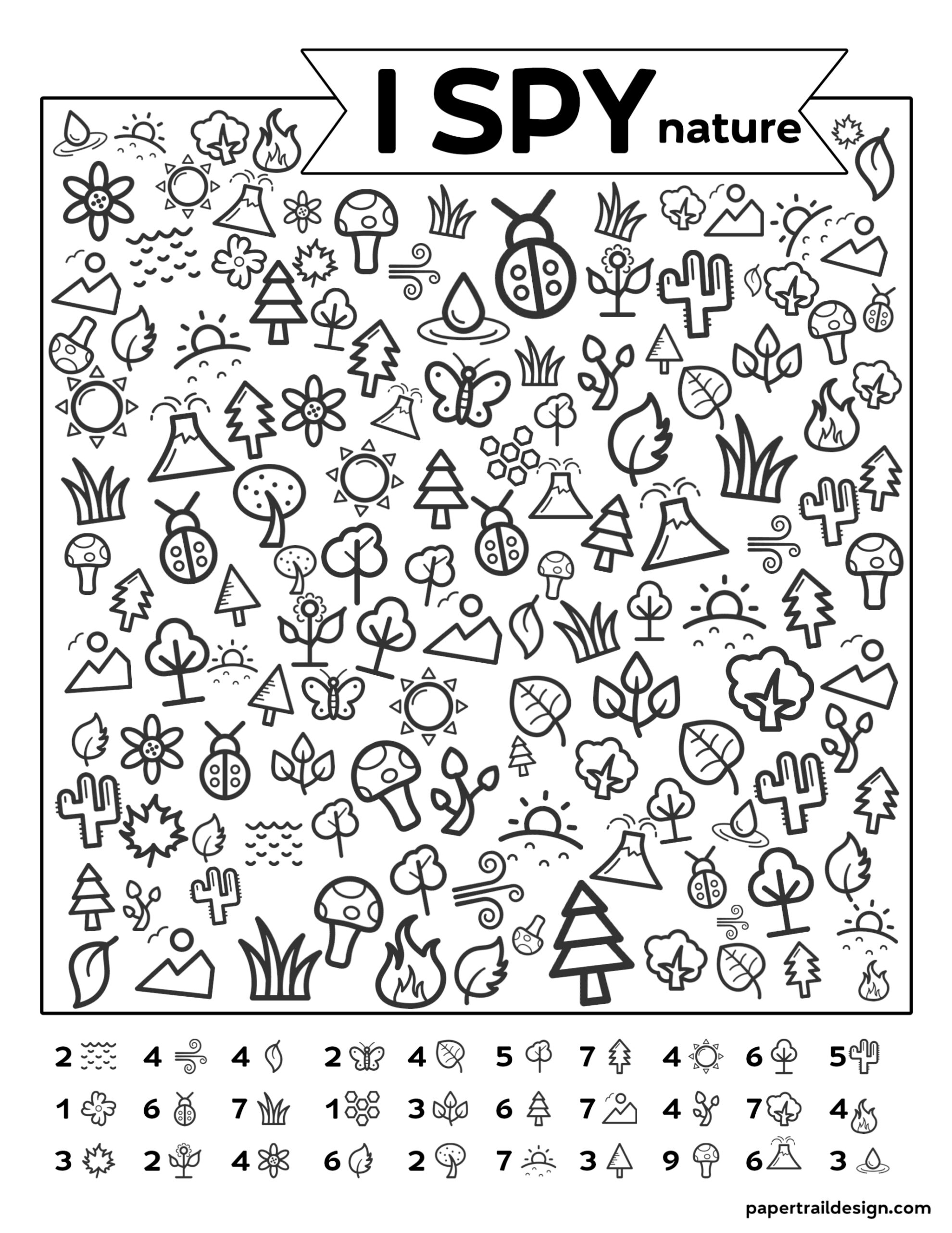 Free Printable I Spy Nature Game