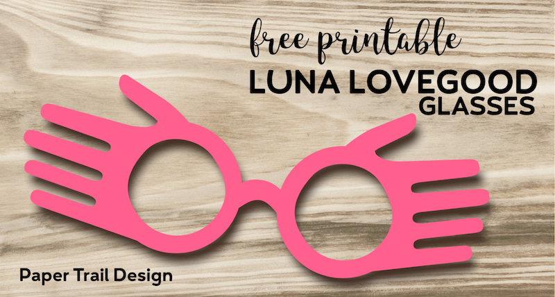 image relating to Harry Potter Glasses Printable titled Cost-free Printable Luna Lovegood Gles Template - Paper Path