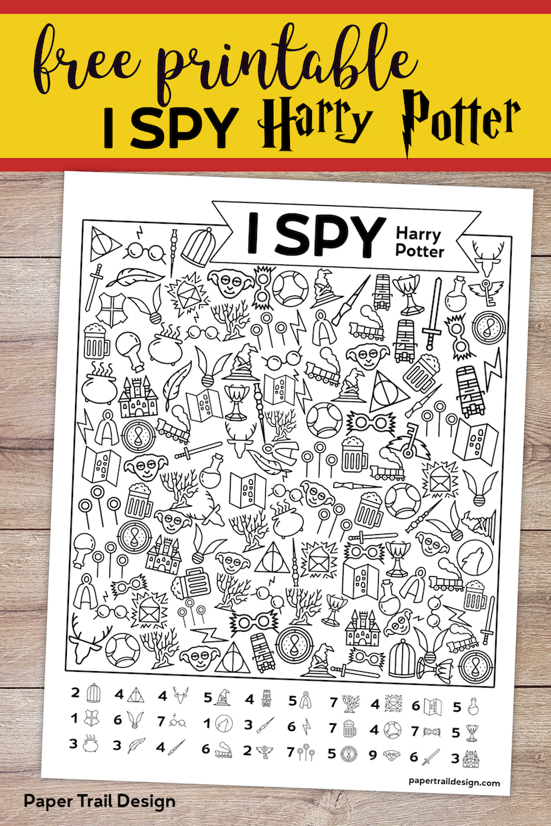 free printable harry potter i spy game