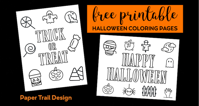 graphic relating to Printable Holloween named No cost Printable Halloween Coloring Webpages - Paper Path Layout