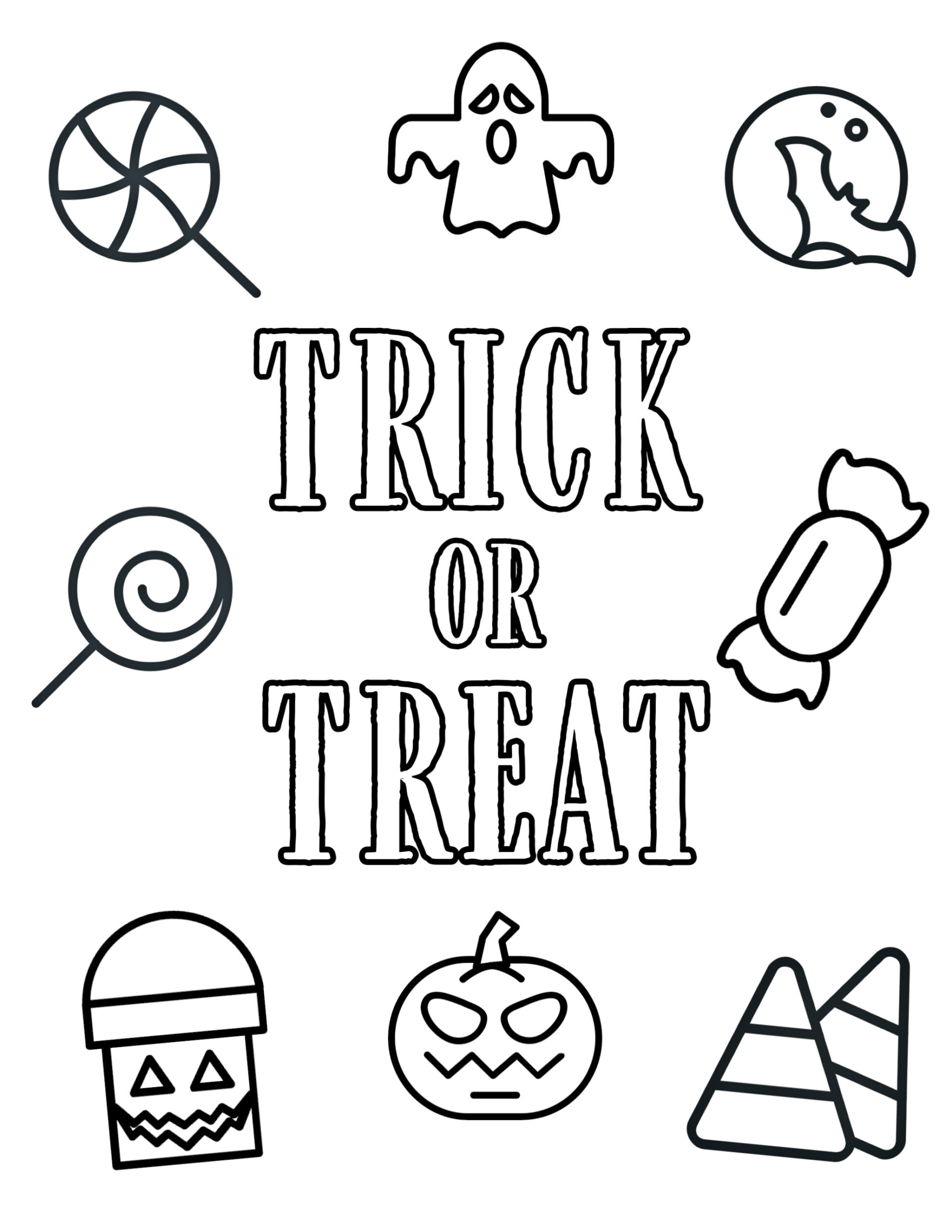 Free Printable Halloween Coloring Pages Paper Trail Design