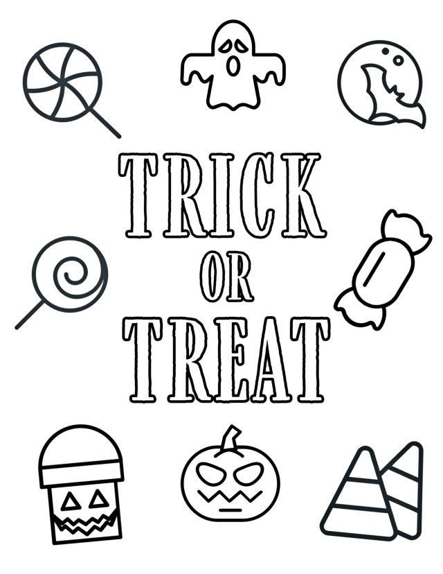 Free Printable Halloween Coloring Pages - Paper Trail Design
