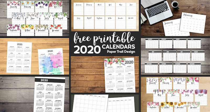 free printable 2020 calendars  12 templates