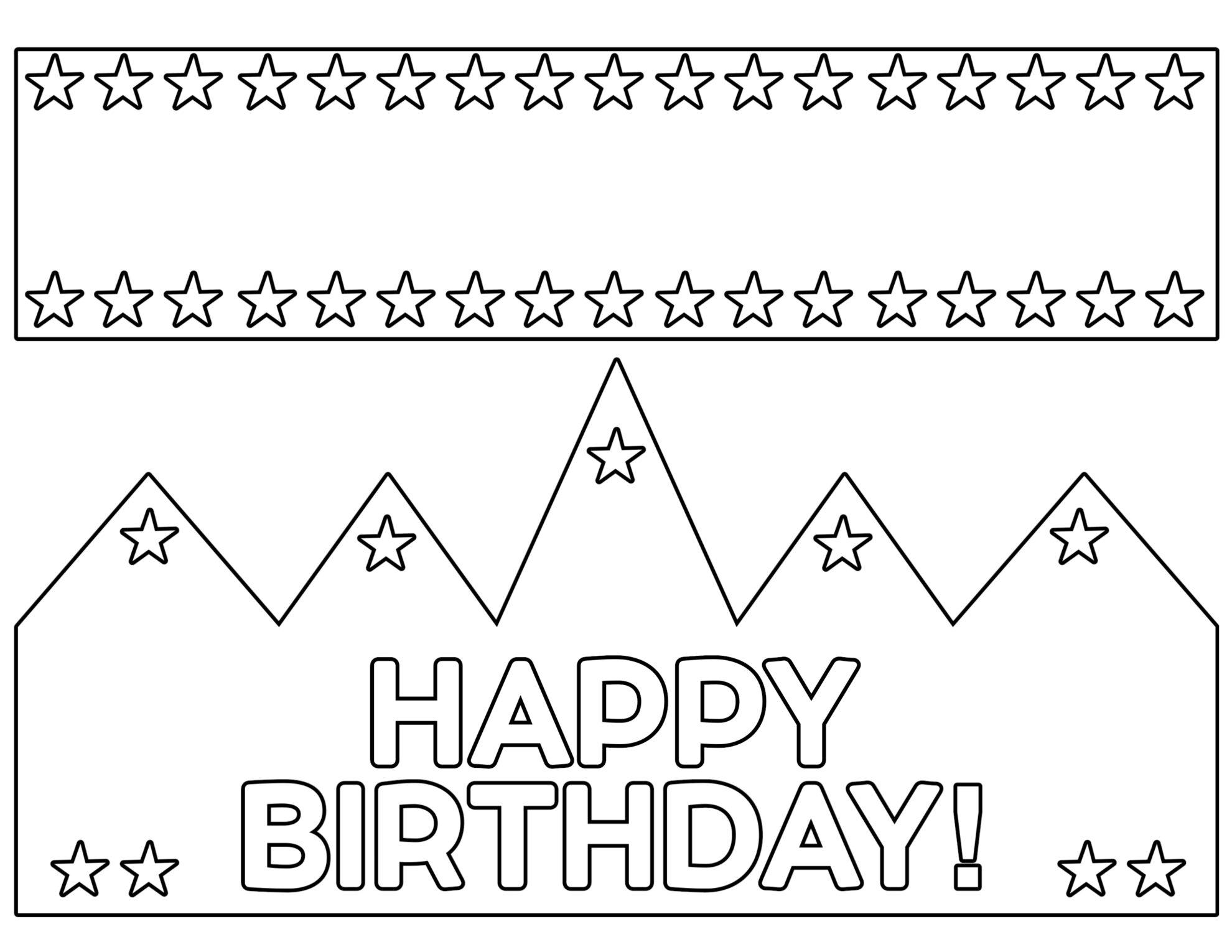 Free Printable Happy Birthday Crown